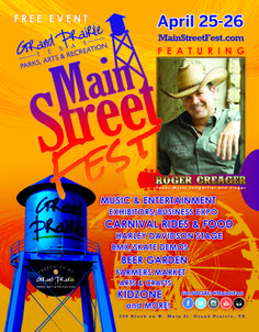 The City of Grand Prairie Parks, Arts & Recreation Department is hosting the 3rd Annual Main Street Fest, scheduled for April 25-26th on the 200 block of W. Main Street and surrounding areas.
