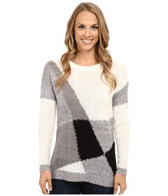 TWO by Vince Camuto Long Sleeve Diagonal Color Blocked Pullover at 6pm.com