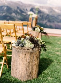 #rustic, #aisle-decor  Photography: Jessica Burke - jessicaburke.com Event Production and Design: Oh How Charming! - ohhowcharming.com Floral Design: R. Jack Balthazar - rjackbalthazar.com  Read More: http://stylemepretty.com/2013/03/18/telluride-wedding-from-jessica-burke-lisa-vorce/