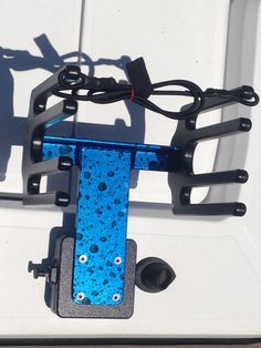 A new paint for the RACK IT - Candy Apple Blue with Water Drops.