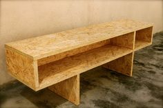 OSB - Google Search Bench Furniture, Plywood Furniture, Cheap Furniture, Furniture Design, Plywood Floors, Modern Furniture, Osb Wood, Wood Plans, Furniture Inspiration