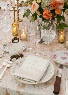 Sam milner wedding photos. New York wedding. Vintage china.
