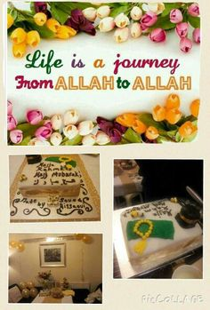 Proud of my cake which was made and baked by me and my lovely son ayman (big thank u son :)  it was for my mother's hajj mubarak return. Hamdulillaha.