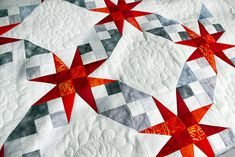 """Fabulous colors in this """"Tennessee Waltz"""" design and quilting by Brigitte Heitland; piecing by Martina Schmid. Star Quilts, Quilt Blocks, Star Blocks, Quilting Projects, Quilting Designs, Quilt Design, Quilting Tutorials, Quilting Ideas, Tennessee Waltz"""