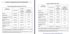 Nouveaux programmes : emploi du temps CE2 - CM1