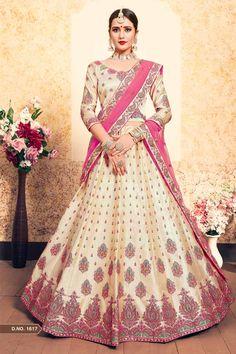 d6bbd554a Grey Color Satin Fabric Thread And Stone Work Wedding Wear Lehenga Grey  Color Satin Fabric Thread And Stone Work Wedding Wear Lehenga Make the  heads turn ...