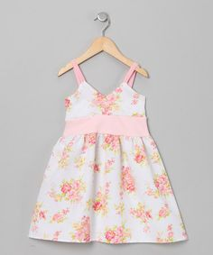 Take a look at this White Georgia's Peach Floral Goddess Dress - Infant & Toddler by Mad Sky on #zulily today!
