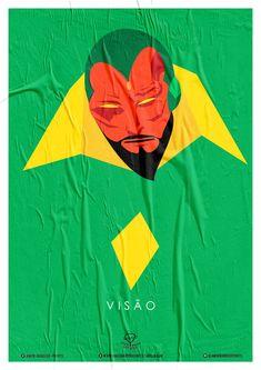 Wiskow • Amor Bandido • Pôster Série Super-Heróis Barbudos #visão #hq #quadrinhos #design #posters