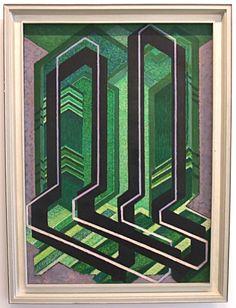 Plans diagonaux (1925), František Kupka.  Musée d'art moderne de Paris. Vu le 30 juillet 2013.