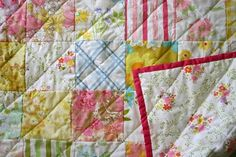 Simple but pretty.  Could use scraps and quilt on the machine.