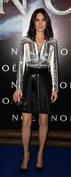 Jennifer Connelly in Louis Vuitton attends the Paris Premiere of 'NOAH'. #bestdressed