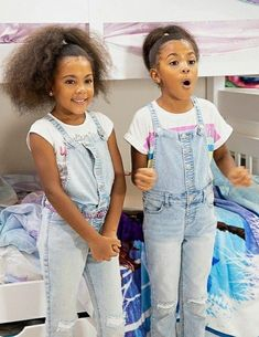 Mcclure Twins, Bed For Girls Room, Kids Playing, Overalls, Children, Pants, Fashion, Toddlers, Moda
