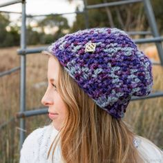 YASSSSSS!!!! This is the crochet beanie pattern I've been searching for! Slightly slouchy beanie, use multiple thickness and styles of yarns, use matching hook for yarn. Perfect for gifts.