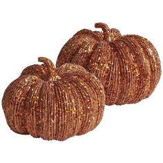 Glitter Pumpkins via Pier 1...thinking of DIYing ones I found at JoAnns to look like this...for WAY cheaper!
