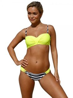 bf6feafdc3 Contrast Color Underwired and Padded Gather Push-up Halter-neck Bikini  Womens
