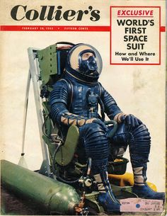 1953 world's first space suit. strange but awesome.