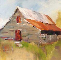 "Barn 118:  The Memory Keeper by Lenn Hopkins Oil ~ 36"" x 36"""