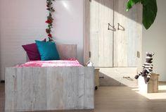 hoofdbord steigerhout schemerwit
