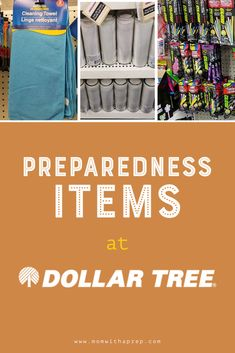 Favorite Preparedness Items at Dollar Tree – Mom with a PREP First aid supplies, home organization, glow sticks, and emergency candles are just. Emergency Preparedness Checklist, Emergency Preparation, Emergency Supplies, Disaster Preparedness, Survival Prepping, Survival Gear, Survival Skills, Emergency Kits, Survival Shelter