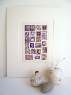 Purple Vintage Stamp Collage £25.00
