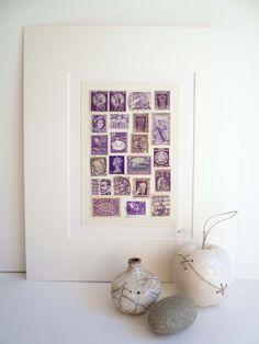 Purple Vintage Stamp Collage £25.00