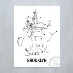 Brooklyn, LinePosters, b&w series, Cayla Ferari & Jhon Breznichy