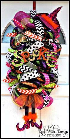Halloween Swag Witch Halloween Wreath Witch by RedWithEnvyDesigns, $125.00