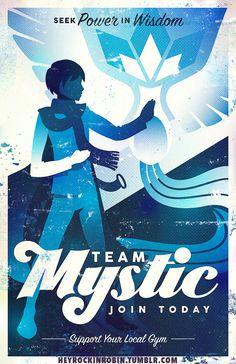Pokemon Go Team Mystic Poster - $15