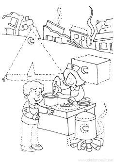 Kızılay Haftası Kalıbı | OkulöncesiTR-Preschool Mandala, Kids, Young Children, Boys, Children, Boy Babies, Mandalas, Child, Kids Part