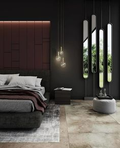 The most amazing industrial bedroom design ideas. We really believe that everyone would love to have such bedroom design. Loft Interior, Modern Interior, Home Interior Design, Ikea Interior, Luxury Bedroom Design, Master Bedroom Design, Master Suite, Modern Luxury Bedroom, Design Bathroom