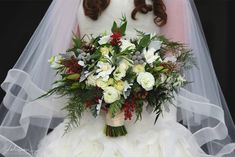 Classic Holiday Wedding Bouquet That Wows