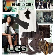 Feel the Heart and Sole of New Orleans in UGG® Australia, created by pisces7 on Polyvore