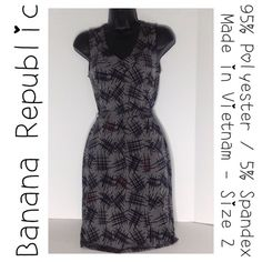 """Banana Republic Gray Dress - Size 2 Approx measurements (flat) - Armpit-to-Armpit: 16"""".   Length: 36"""". Never worn, but hanging in closet for a while, so New Like Condition.  See labels in picture for additional information.  When making Offers, please make fair offers - No Low Balling. Thank you for stopping by my closet and Happy Poshing! Banana Republic Dresses"""