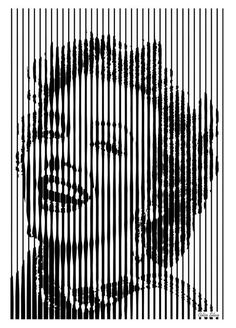 Marylin Monroe Op Art Art Print by Celso Maria. All prints are professionally printed, packaged, and shipped within 3 - 4 business days. Choose from multiple sizes and hundreds of frame and mat options. Portrait Art, Portraits, Art Sketches, Art Drawings, Op Art Lessons, Psy Art, Generative Art, Illusion Art, Marylin Monroe
