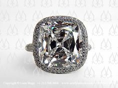 Quite possibly the most beautiful cushion shape diamond I've ever seen. By Leon Mege.