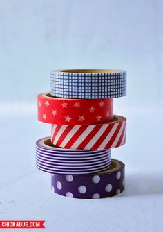 Patriotic Washi Tape Flags for Wait Til Your Father Gets Home from