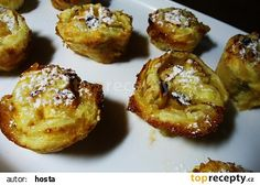 Štrúdl v muffinách recept - TopRecepty.cz Baked Potato, French Toast, Deserts, Cupcakes, Treats, Baking, Breakfast, Ethnic Recipes, Sweet