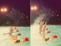 Aqualillies at Hitched, via Bash, Please.