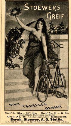 Bernh. Stoewer A.G. Stettin STOEWER`S GREIF Historische Reklame 1899 | eBay