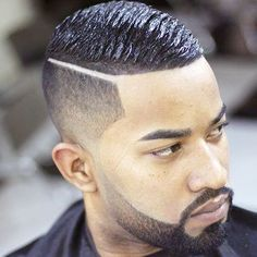 Black Men Haircuts - Taper and Hard Part with Wave Cut - Best Haircuts For Black Men: Cool Black Men's Hairstyles, Fade Haircut Styles For Black Guys Black Men Haircuts, Black Men Hairstyles, Modern Hairstyles, Undercut Hairstyles, Boy Hairstyles, Cool Haircuts, Fresh Haircuts, Men's Haircuts, Holiday Hairstyles
