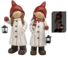 Christmas Figurine with Lantern Tea Light Holder Xmas Decoration Outdoor/Indoor #PFENNIGNSQUID
