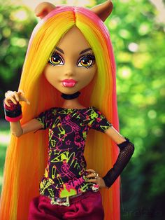 beautiful hair, very hard to do shade like this, gorgeous howleen wolf or clawdeen wolf