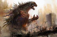 GREAT GODZILLA   Godzilla-01 by cheungchungtat