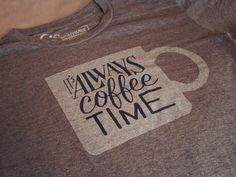 It's Always Coffee Time | seanwes hand lettering | Sean McCabe