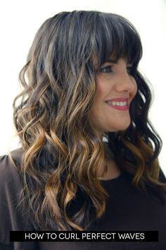 How to curl perfect waves tutorial.  @Erin Duncan Thebeast