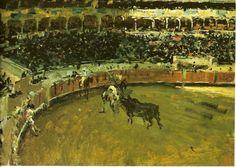 """Mariano Fortuny i Marsal (1838-1874). """" Corrida de toros"""". Museo del Prado, Madrid"""