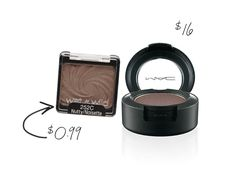 13 Drugstore Steals to Replace High-End Beauty Products: Wet'n'Wild's eye shadows are known for their pigmentation level, easy blendability and staying power. My favorite shade is Nutty, a near perfect dupe for MAC's Satin Taupe.
