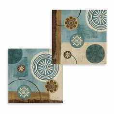 Buy New Generation Blue Wall Art (Set of 2) from Bed Bath & Beyond $39.99 set of 2