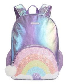 Fab Little & Big Girls Reversible Sequin Backpack - Multi Stylish Backpacks, Cute Backpacks, Girl Backpacks, Baby Clothes Shops, Clothes For Sale, Little Girl Backpack, Sequin Backpack, Fantasias Halloween, Backpack Reviews