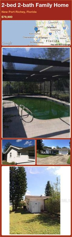 2-bed 2-bath Family Home in New Port Richey, Florida ►$79,900 #PropertyForSale #RealEstate #Florida http://florida-magic.com/properties/78076-family-home-for-sale-in-new-port-richey-florida-with-2-bedroom-2-bathroom